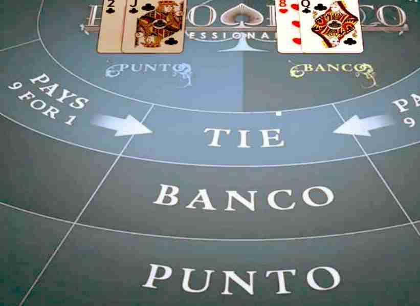Casino Game Baccarat Punto Banco